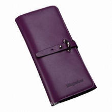 Latest Wholesale Fashionable Women's Genuine Leather Long Wallet, Closed with Snap Button