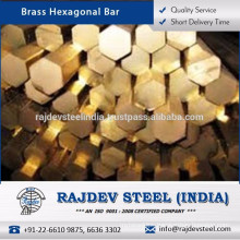 Optimum Performance/ Durable/ Sturdy Brass Hexagonal Bar Industrial Use