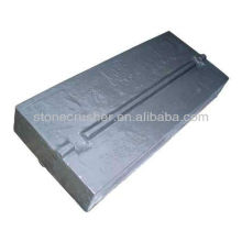 stone impact rock crusher casting blow bars(flat hammer) chrome parts