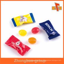 China productor pedido personalizado impreso pequeño dulces de plástico dulces bolsita