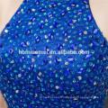 manches courtes robes de demoiselle d'honneur robe 2pcs ensemble robe de demoiselle d'honneur convertible bleu dos nu avec perles lourdes