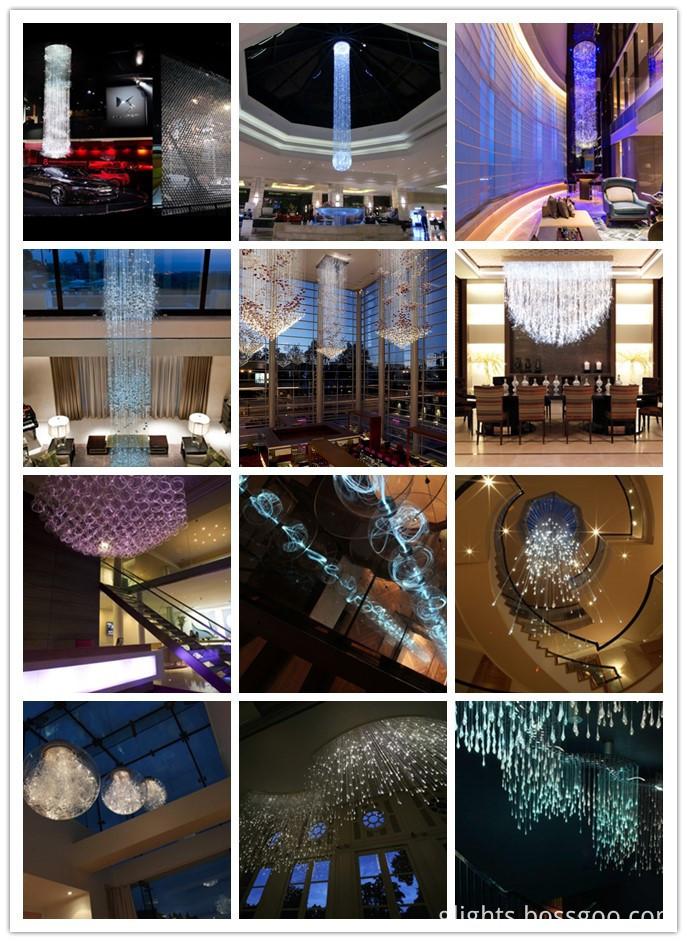 fiber chandelier