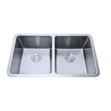 304 stainless steel double kitchen sink