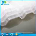 UV protected clear wave polycarbonate sheet with cellular shape