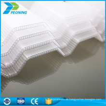 Kratzfestes 3mm niedriges Polycarbonat-Plastik-Wellendach-Wellblech