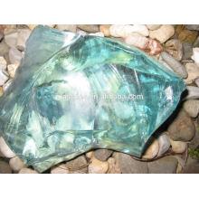 transparent slag glass rock for decoration