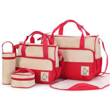 Multifuncional bolsa de pañales de moda Set