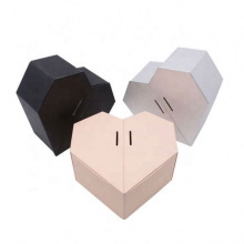 Pink and black heart-shaped honey bridesmaid groomsmen explosion packaging gift box with ribbons