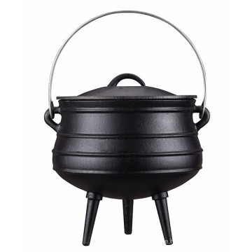South Africa Cast Iron Potjies Pot with 3 legs for outdoor camping