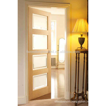 Oak Veneer Shaker Style Wooden Glass Door Design