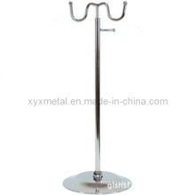 Chrome Two Steel Bag Halter Display Stand