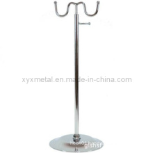 Chrome Two Steel Bag Holder Display Stand