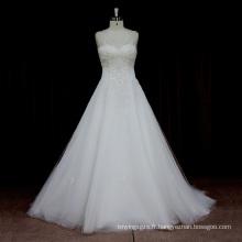 La dernière robe de mariage sexy de dos de Pageant