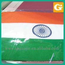 Impresión de banderas nacionales de India