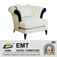 Sofá de hotel de luxo de qualidade superior, Sofá de apartamento único (EMT-SF30)