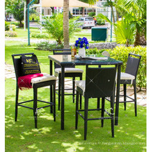 Ensemble de bar en poly rotin design le plus chaud pour les meubles en osier en plein air