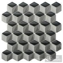 Mosaico de vidro backsplash de cozinha de diamante interessante