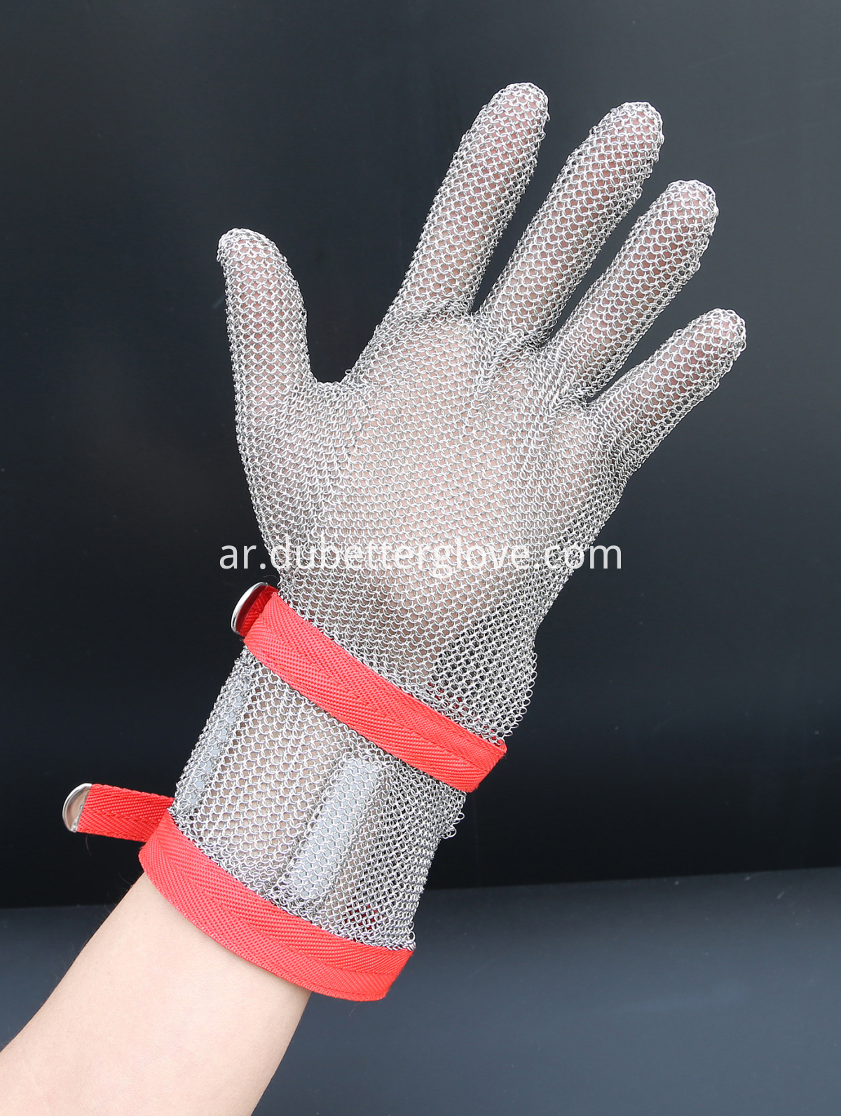 15 cm long cuff steel mesh gloves