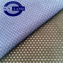 tejido de malla elástica con ojal de spandex de color rojo brillante 90% poliéster 10%