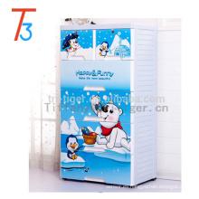 Gabinetes baratos del guardarropa del almacenamiento plástico al aire libre azul de la sala de estar del color para los niños