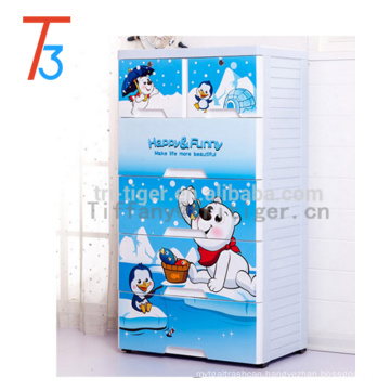 Blue color livingroom outdoor plastic storage cheap wardrobe cabinets for kids