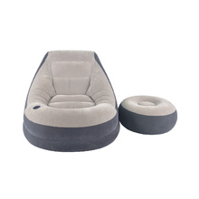 Faules Loungesofa mit Fußstützenhocker