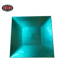 Green Simple Square Plastic Charger Plate