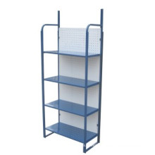 Hotel supply metal storage shelf standing luggage rack