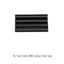 3K full carbon fiber twill matte 22x20x500mm round tubes or pipes for FPV drones