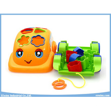Blocks Toys Cartoon Car Educational Toys with Cable