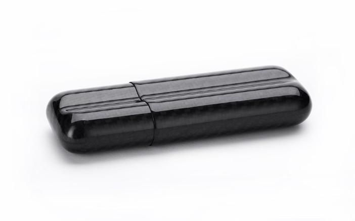 carbon fiber cigar case 2 tubes