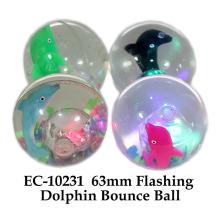 Lustiges 65mm blinkendes Wasser Bouncing Ball Delphin Spielzeug