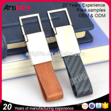 Nice designer de couro gravado chaveiros de luxo para homens