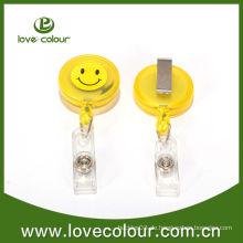 Lächeln Gesichtspflege Badge Inhaber mit benutzerdefinierten Aufkleber