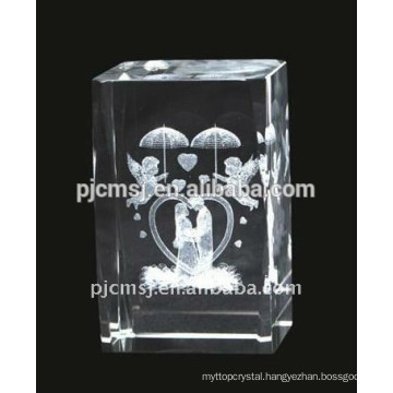 Cube Crystal Gifts for Kids with Laser Angel