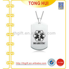 Black printing logo dog tag necklace distributor imitation jewelry