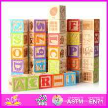 2014 New Kids Wooden Toy Block, Popular Children Wooden Toy Block, Hot Sale Baby Wooden Preschool Toy Block W13e022