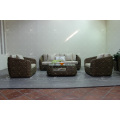 Top Selling Luxurious Interior Design Water Hyacinth Sofa Set For Indoor Natural Furniture