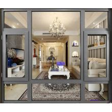 China fabricante Precio de fábrica doble vidrio templado ventana de aluminio