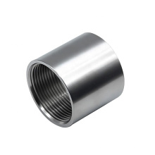 """3/4"""" x 3/4"""" Female Thread Stainless Steel Connector for Pipe / Round Steel Connector"""