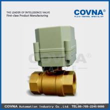 Latón micro eléctrico cerrado válvula de bola china válvula fabricante