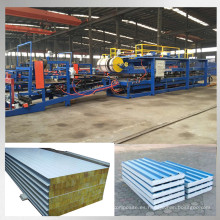 línea de producción de panel de sandwich de lana de roca