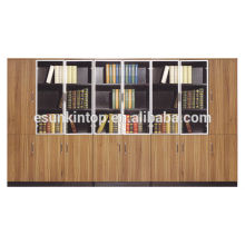 Conception de bibliothèque en bois pour grand bureau, bon apparence de dossiers (KB838-1)