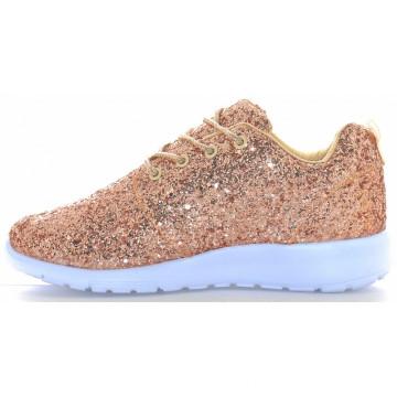 Zapatillas de deporte ligeras de la nueva zapatilla de deporte del brillo del estilo