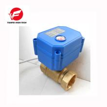 3.6v-6v 5v 110 v 230 v DN8 DN10 DN15 laiton cwx-15q motorisé robinet à boisseau sphérique