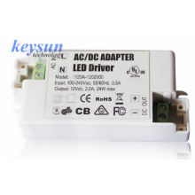AC-DC 6W 12V 500mA AC-DC Constant Voltage LED Driver Power Supply with CE UL cUL: