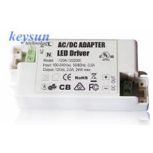 AC-DC 6W 12V 500mA AC-DC Voltagem constante LED Driver Fonte de alimentação com CE UL cUL: