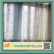 Moitié Blackout Organza imprimé de tissus pour rideaux