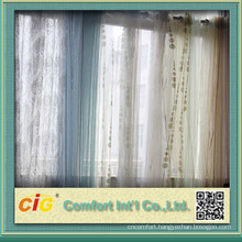Half Blackout Organza Printed Curtain Fabric