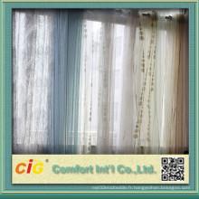 Flocage de tissu rideau en organza pour la maison